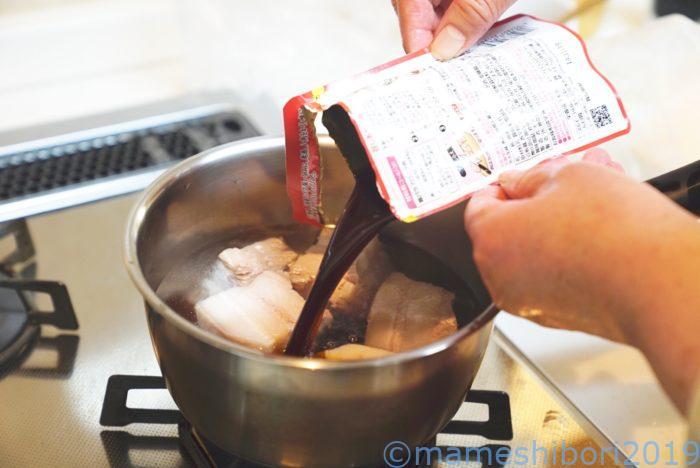 簡単で美味しい角煮作り【モランボン角煮のたれ】