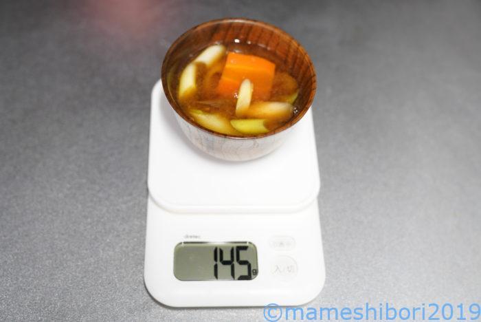 京都有次のアルミのお玉を使って1杯お味噌汁すくってみた